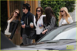 Emma Watson On The Set Of 'The Bling Ring'